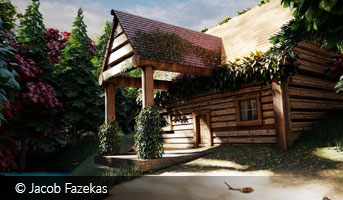 jacob fazekas wooden cabin