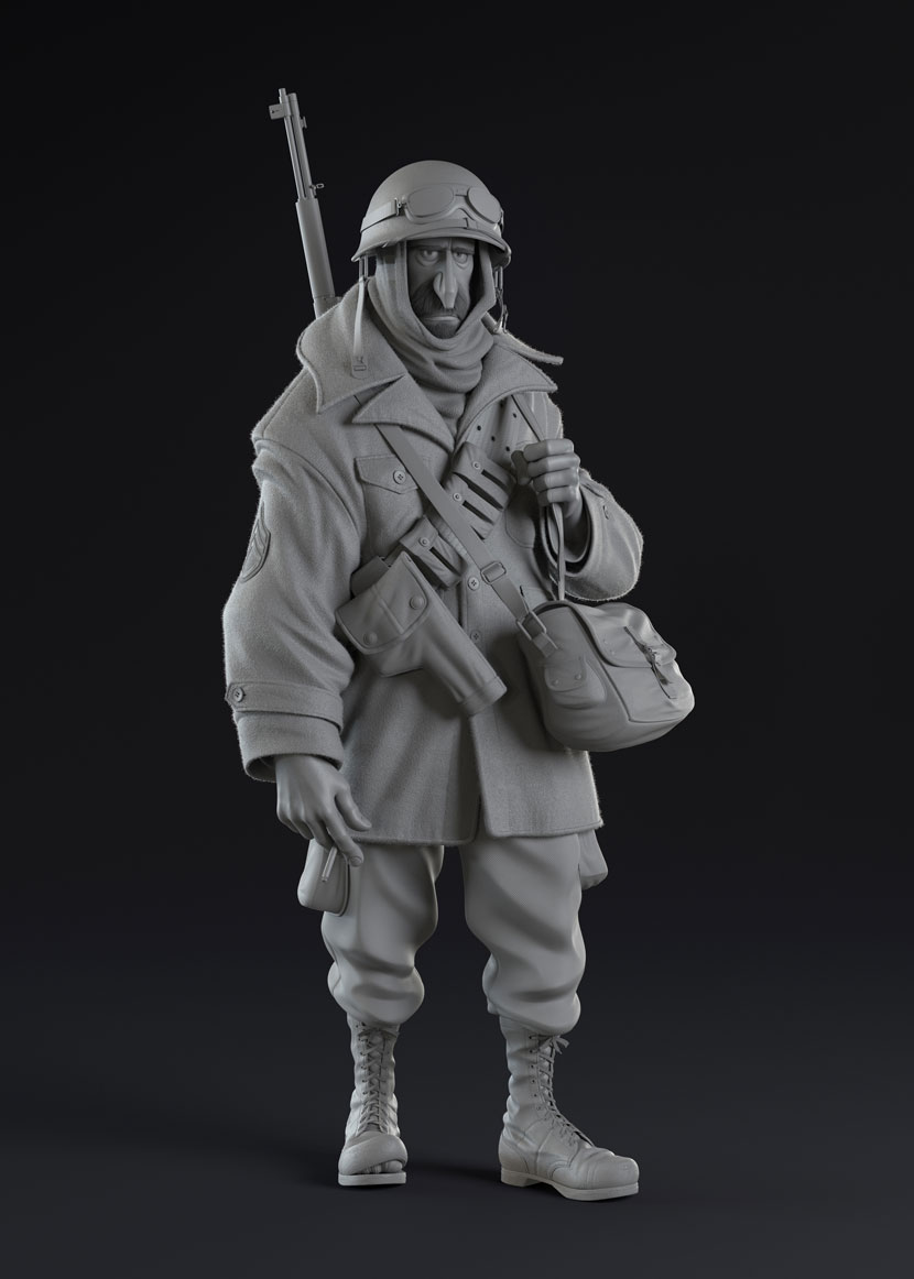 Sergeant Clay Model