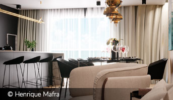 henrique mafra beige and black interior