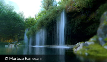 Waterfall by Morteza Ramezani